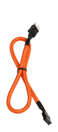 Bitfenix 30cm 9pin Audio Extension Cable Orange-Sleeving