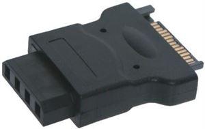 15 Pin SATA Power to Molex 4 Pin Output Adapter
