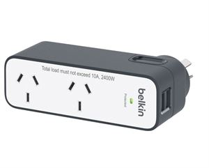 Belkin International Travel Surge with 2 USB Ports