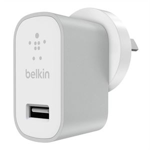 Belkin Mixit Metallic Wall Charger, Space Grey - F8M731BGGRY