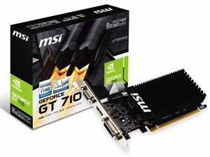 MSI GeForce GT 710 2GB GDDR3 Low-Profile Graphics Card