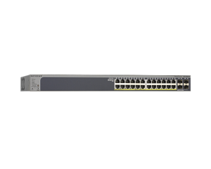 Netgear Prosafe 24 Port  Gigabit Smart Switch With Poe and 4 SFP Ports
