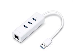 TP-Link USB 3.0 3-Port Hub & Gigabit Ethernet Adapter 2 in 1 USB Adapter