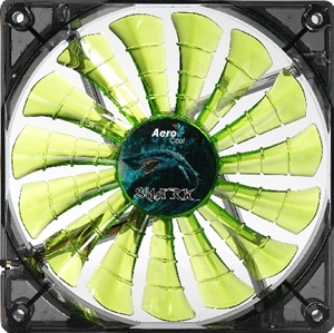 Aerocool Shark Fan 140mm Green LED Fan