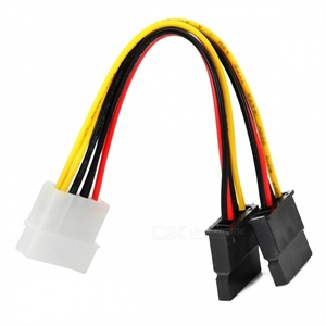Molex to SATA Double Adaptor Power Cable