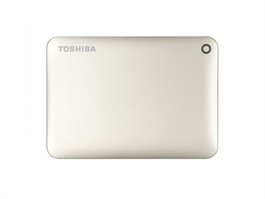 Toshiba 1TB Canvio Connect II Portable Hard Drive - Gold
