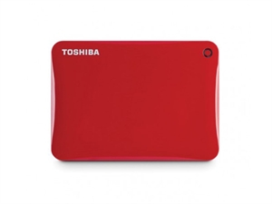 Toshiba 2TB Canvio Connect II Portable Hard Drive - Red