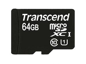 Transcend 64GB microSDHC Class 10 UHS-I 300x (Premium)
