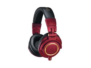 Audio Technica ATH M50x Premium Studio Headphones - Red