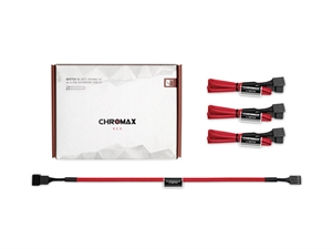 Noctua NA-SEC1 chromax.red 30cm 4Pin PWM Extension Cables (3 Pack)
