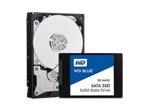 Western Digital Blue SSD/HDD Starter Kit Bundle - 250GB+1TB