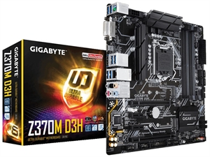 Gigabyte Z370M D3H Ultra Durable Intel 8th Gen Motherboard