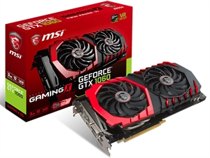 MSI GeForce GTX 1060 3GB Gaming X Graphics Card
