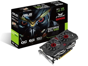 Asus GeForce Strix GTX1060 DC2 OC 6GB Gaming Graphics Card