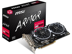 MSI Radeon RX 580 Armor MKII OC 8GB Graphics Card