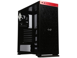 In Win 805C Mid Tower Case - Black and Red