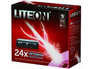 LiteOn 24x Internal 24X8X8/4 DVDRW -  Black
