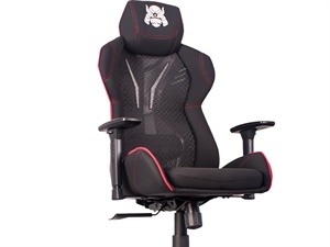 Karuza YX-0034 v2 Gaming Chair with Back Armor - Black/Red