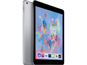 "Apple iPad 9.7"" (6th Gen. 2018) Tablet 128GB WiFi + Cellular - Space Grey"