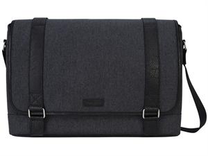 "Targus 15.6"" City Fusion II Messenger Bag - Charcoal/Black"