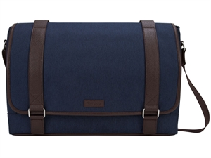 "Targus 15.6"" City Fusion II Messenger Bag  - Blue/Brown"