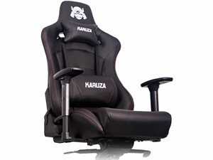 Karuza YX-0026+ Gaming Chair - Black/Red Trim