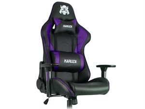 Karuza YX-1216 Gaming Chair - Black/Purple