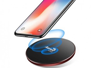 AeroCool Premium Aluminum 7.5W Designed for Apple Wireless Fast Charger - Rose